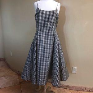 Lauren Ralph Lauren Black Cream Check Dress 12